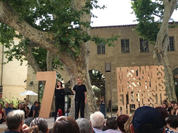 / actu / Au Festival d'Avignon, Béatrice Dalle et Virginie Despentes enflamment le Jardin Ceccano