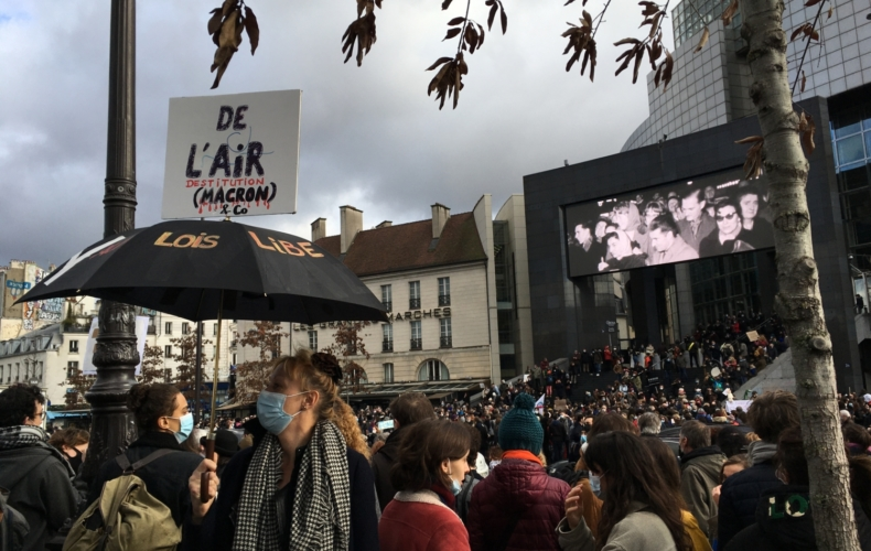 Manifestation 15 décembre Place de la Bastille Paris